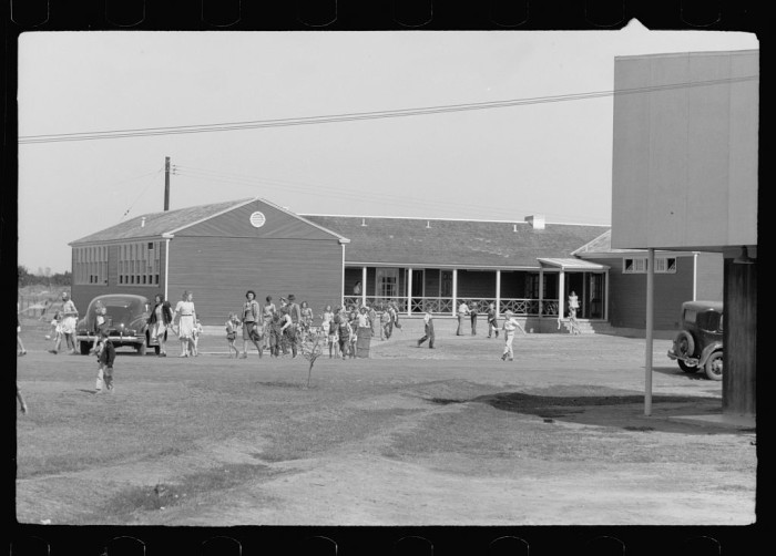 Recess was an important part of every school day. (Weslaco, 1942)