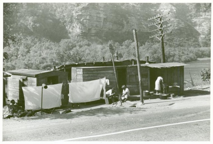 8. These were shacks that African Americans lived in along highway between Charleston and Gauley Bridge in 1938.