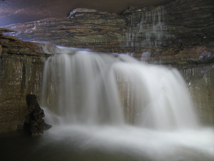 8. This waterfall is in Sharps Cave in Pocahontas County