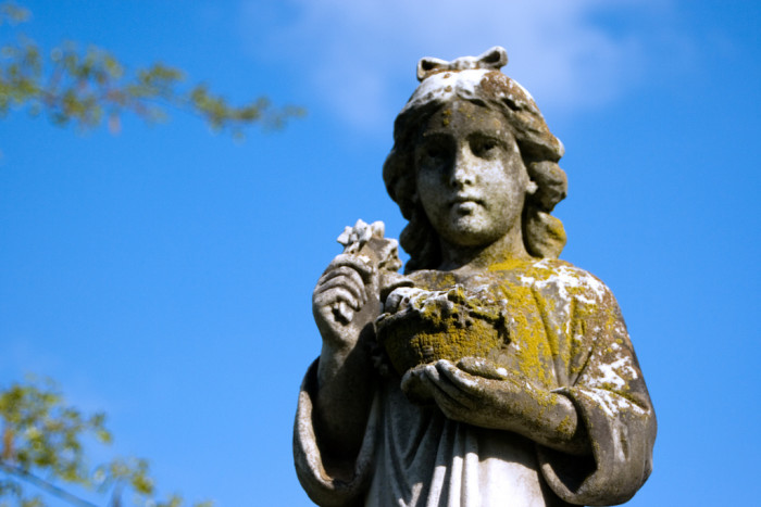 13. This is a statue at a cemetery in Shepherdstown.