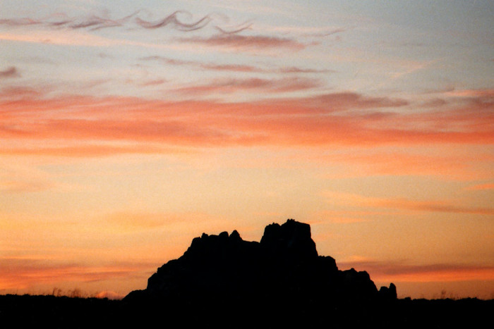 4. The sun slipping behind Shiprock, near the town of Shiprock
