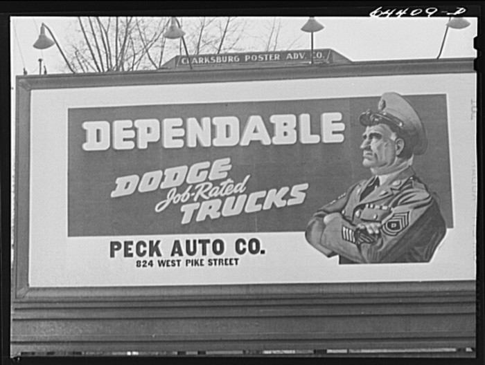11. This is a sign in Clarksburg in 1942.