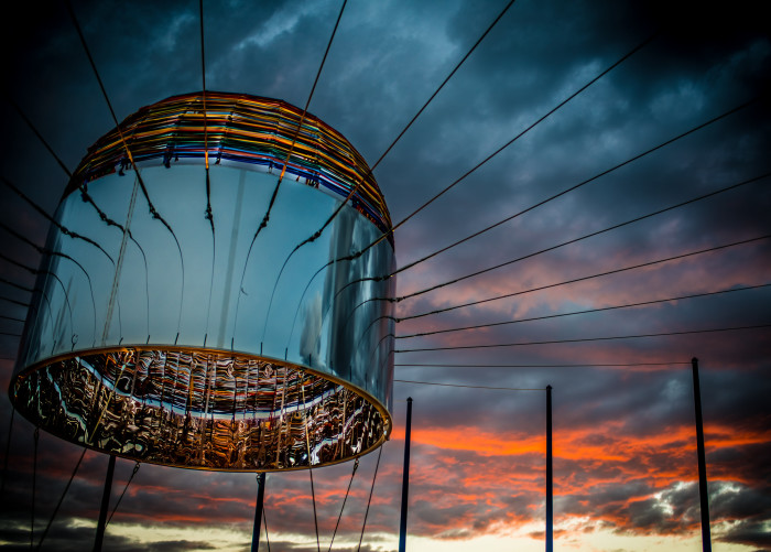5. Randy Walker's art installation at Albuquerque's Balloon Museum, titled Sky Portal, looks bewitching come nightfall.
