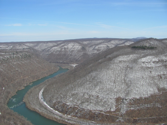 2. This time that snow covered the mountains of the New River Gorge