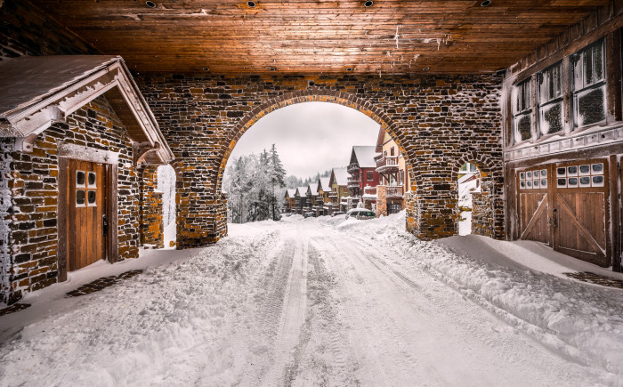 14. This charming picture taken at Snowshoe Mountain Ski Resort.