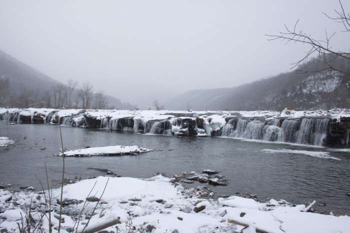 5. This snowy day at the New River.