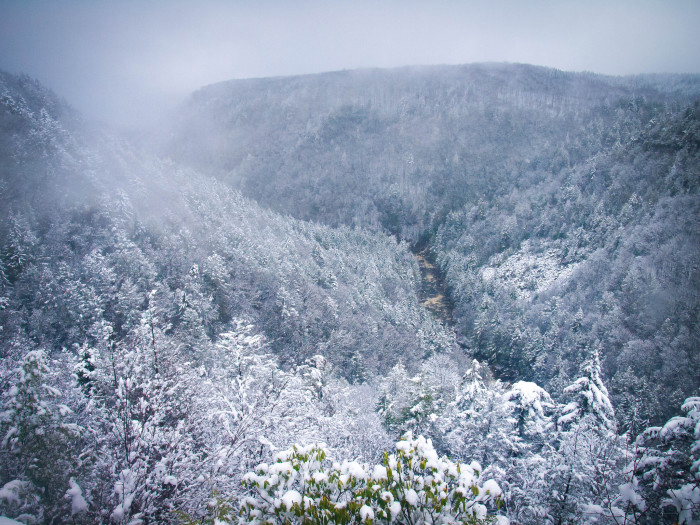 11. The time the snow and fog covered the Blackwater valley.