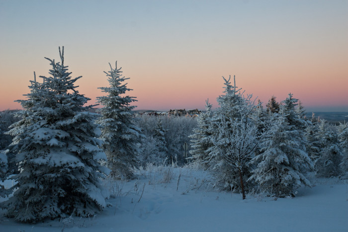 15. This sunrise during a snowy West Virginia winter.