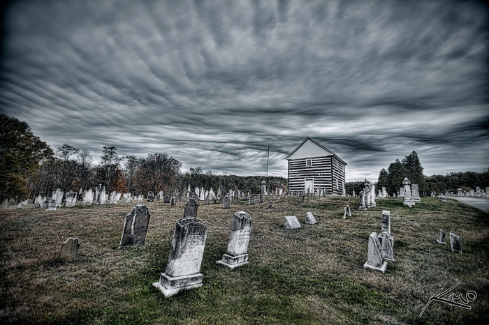 9. This is a cemetery somewhere in West Virginia.