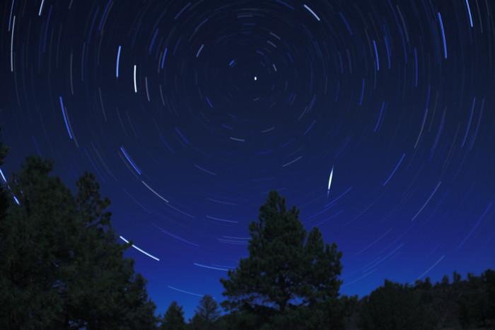 12. While stargazing