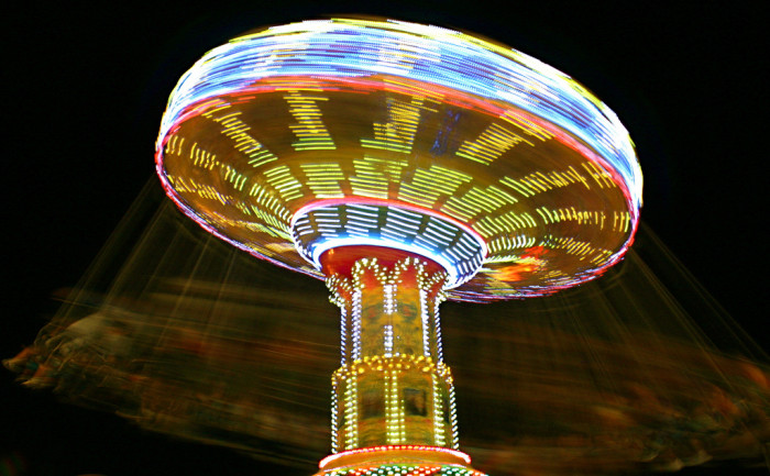 11. Even the rides at the state fair look enchanting after dark.
