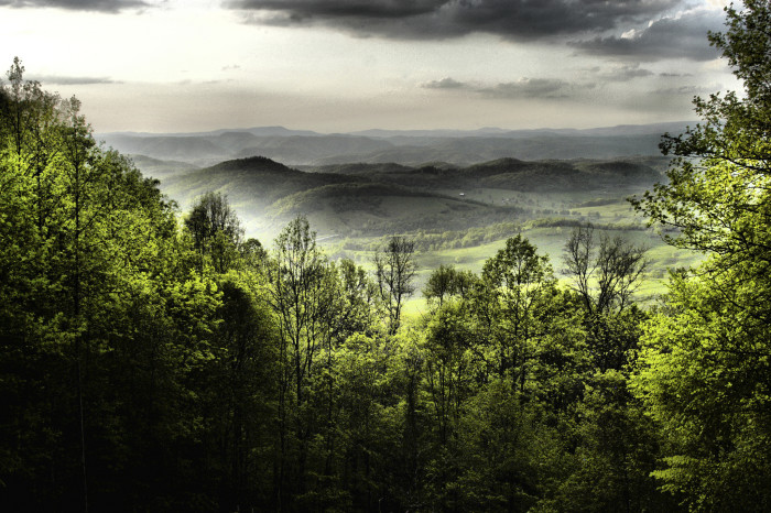 8. Here's another taken at the overlook on Muddy Creek Mountain near Alderson, this time storm clouds were rolling in.