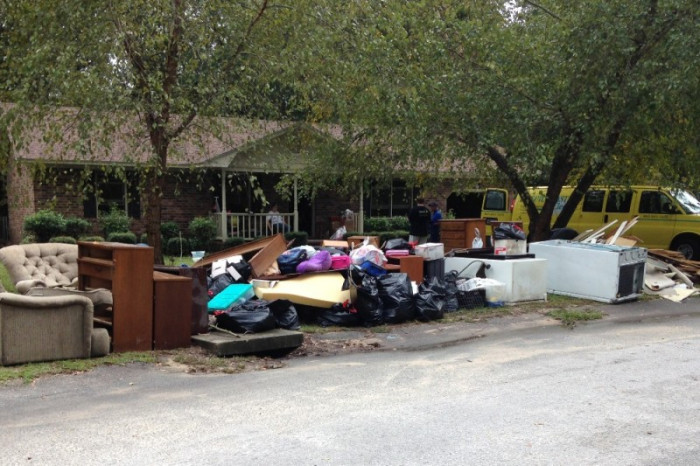 16. Like so many families in South Carolina, this one in Sumter had to toss everything.
