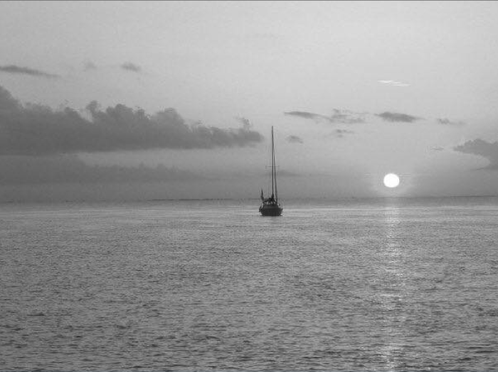 4. Just a man, the sun, and the sea.