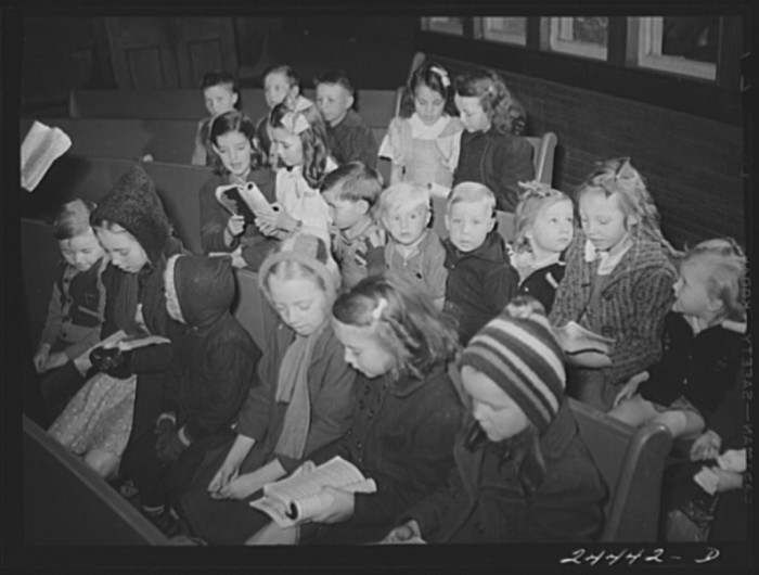 18. This is a Sunday School class in Dailey in 1941.
