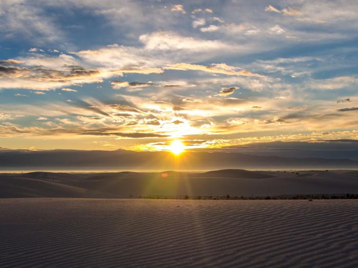 10. White Sands at sunrise