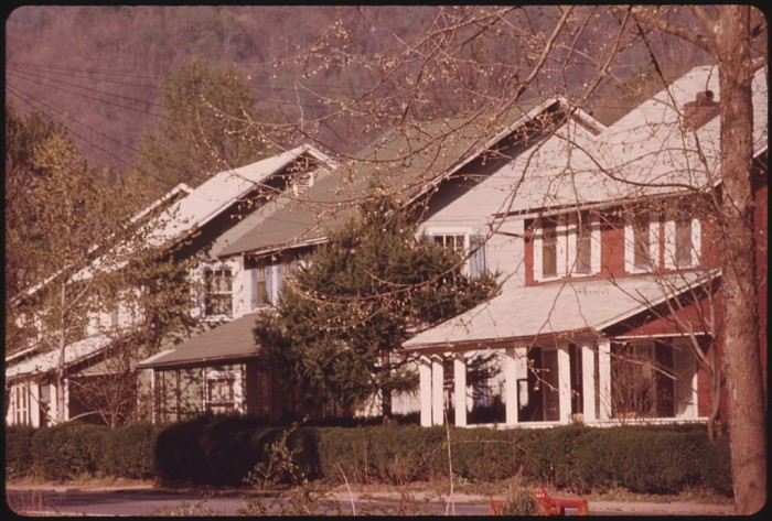 7. This was the mine supervisors' housing in a coal company town near Logan.