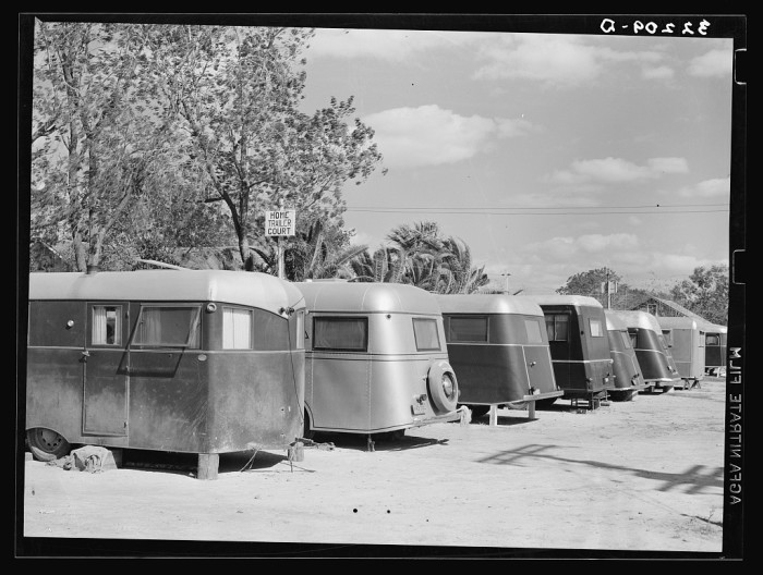 6. Not everyone had an actual house to call home. A lot of migrant workers lived in trailers. (McAllen 1939)