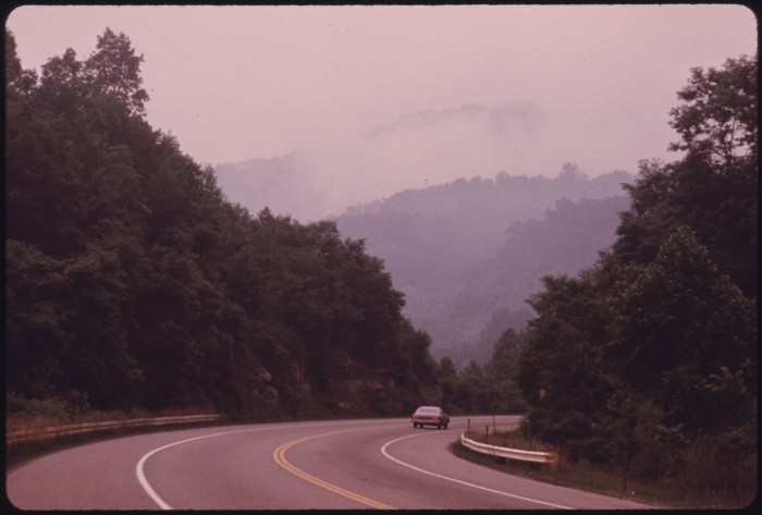 10. This was taken on the West Virginia Turnpike north of Beckley in 1974.
