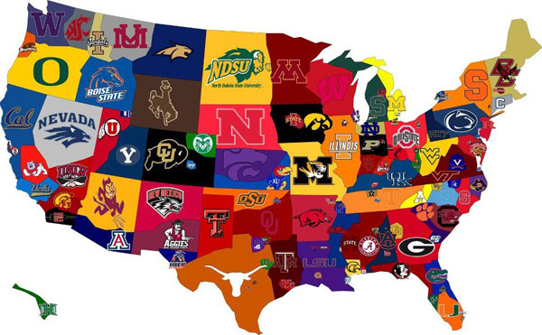 1. We'll start with the basics: Collegiate sports are where it's at.