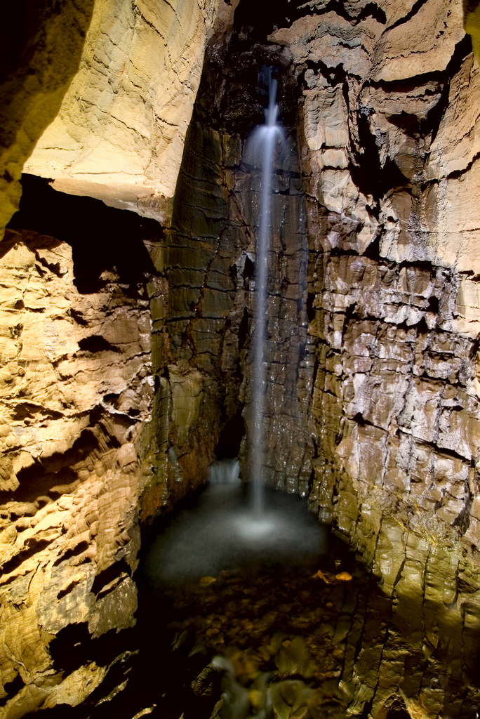 10. This is a waterfall in a cave somewhere in West Virginia