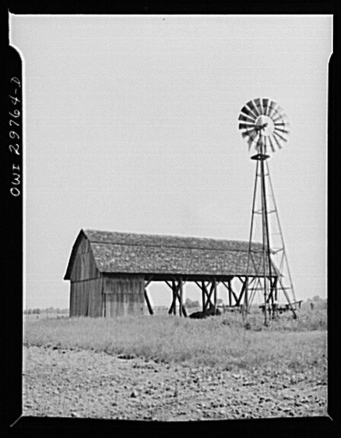 1. This open barn and windmill were at a farm in Point Pleasant.