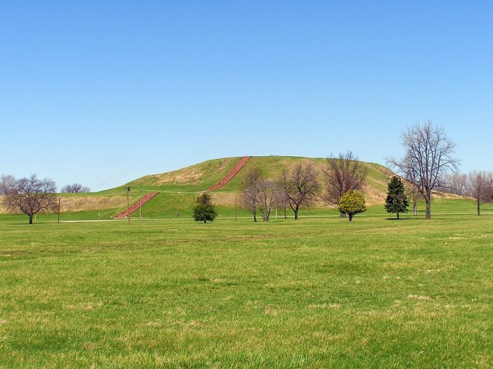 2. Cahokia Mounds was settled in 700 AD.