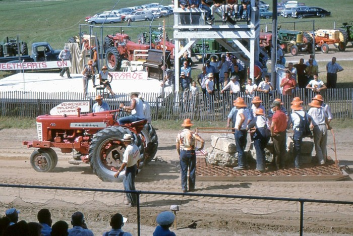 1. This was a tractor pull meeting up in Gays Mills in 1958.