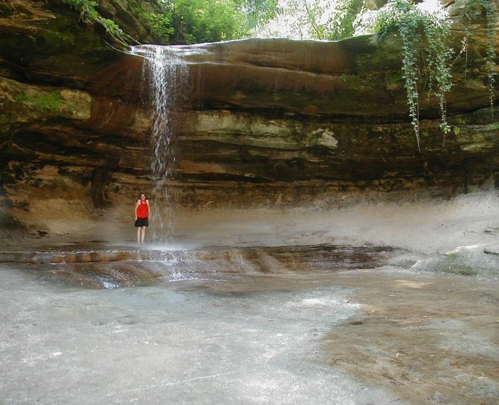 2. But of all the falls at the park, it is the most likely to consistently have water.