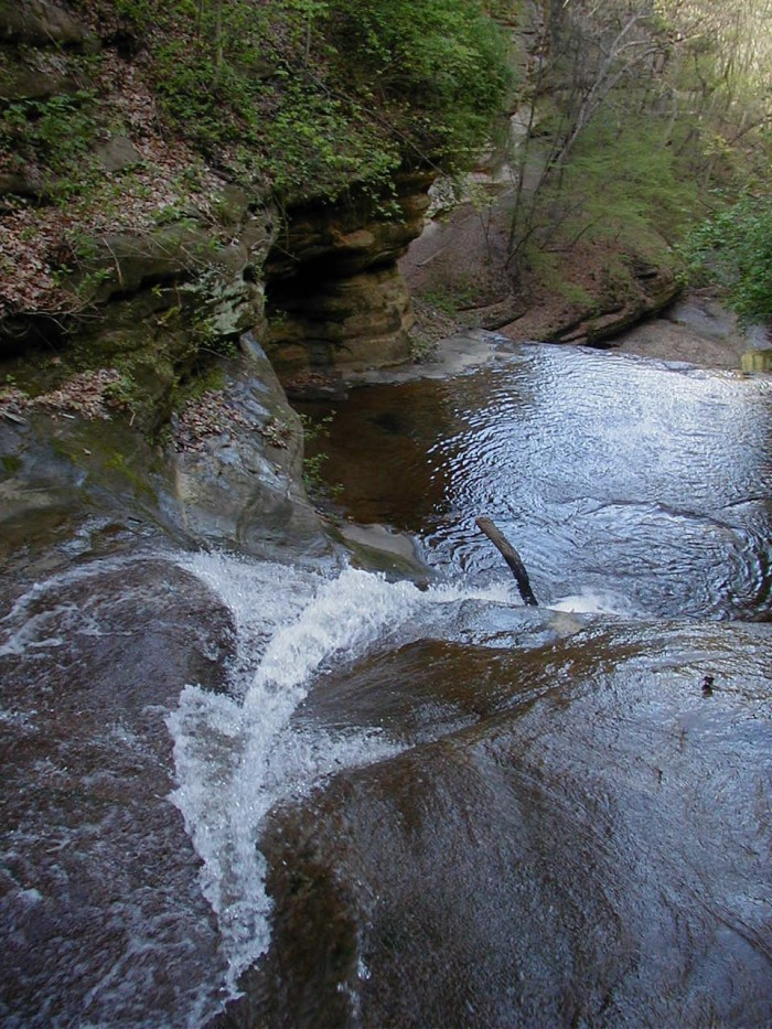 8. A walking trail goes right behind the falls.