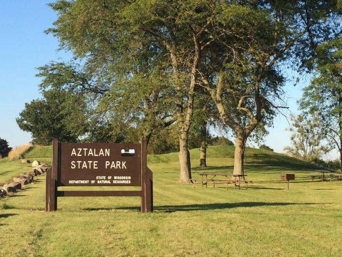 1. Aztalan State Park is located in Jefferson, Wisconsin.