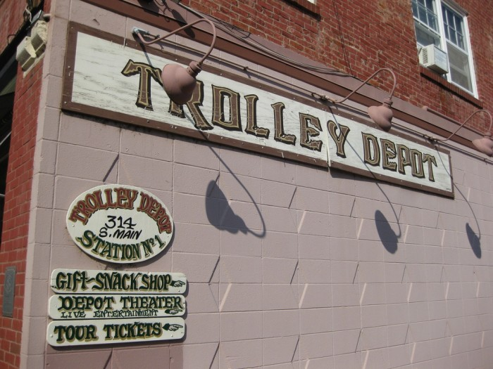 1. Not many towns have trolleys to get you around, especially when the town isn't that big. But Galena does.