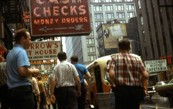 3. Men make their way down Randolph Street in 1968.