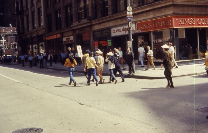 8. Here is another shot of an anti-war protest in Chicago.