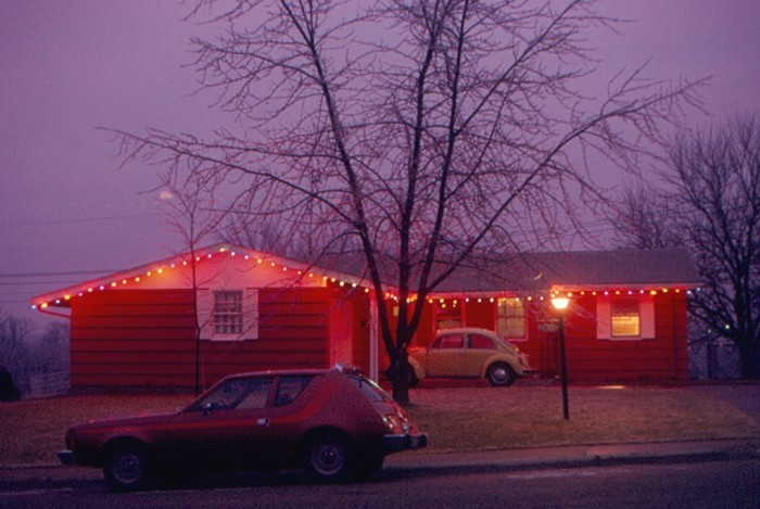 7. This was a typical Christmas lights display in the 1970s.
