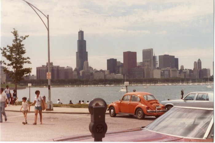 8. The Willis (formerly Sears) Tower was just a few years old when this photo was taken.