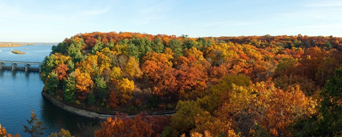 1. Especially beautiful at fall, this shot of the trees conceals the awesomeness within the park itself.