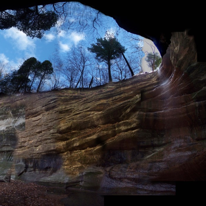 3. This shot from the canyon below captures just how geologically interesting this place is.