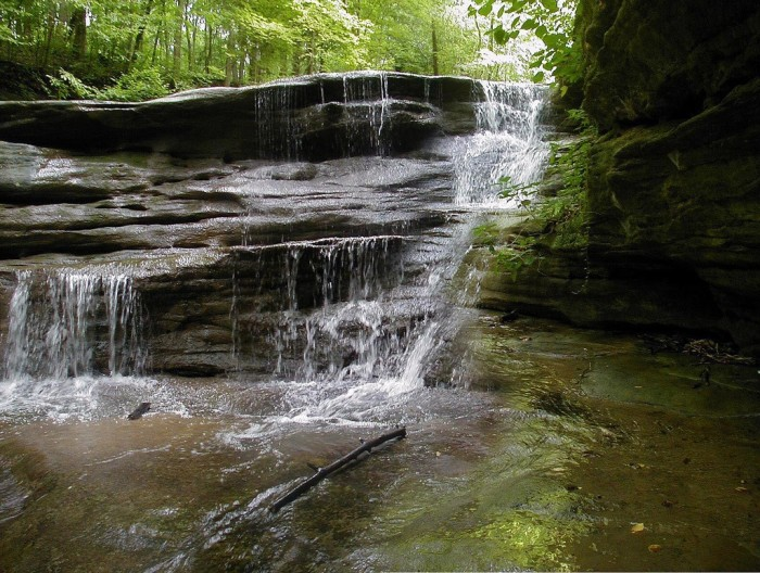 4. There is plenty of water cascading down.