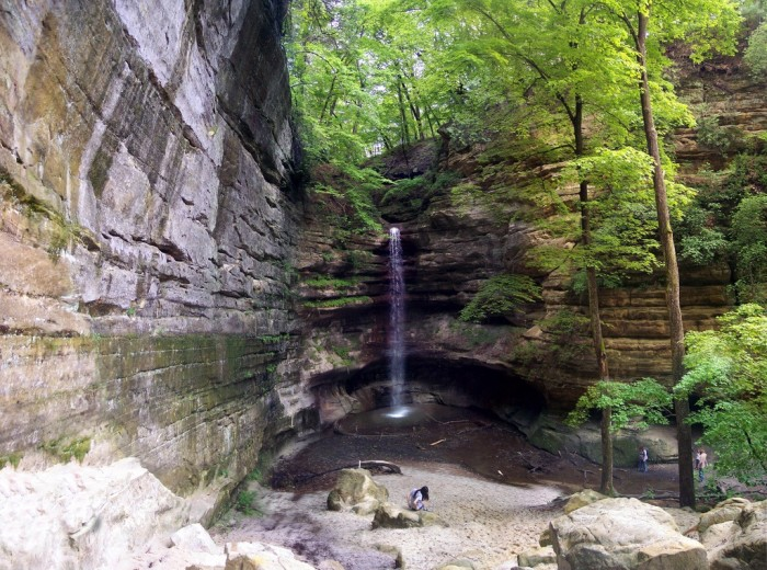 10. The St. Louis Canyon waterfall is the prize of the park.