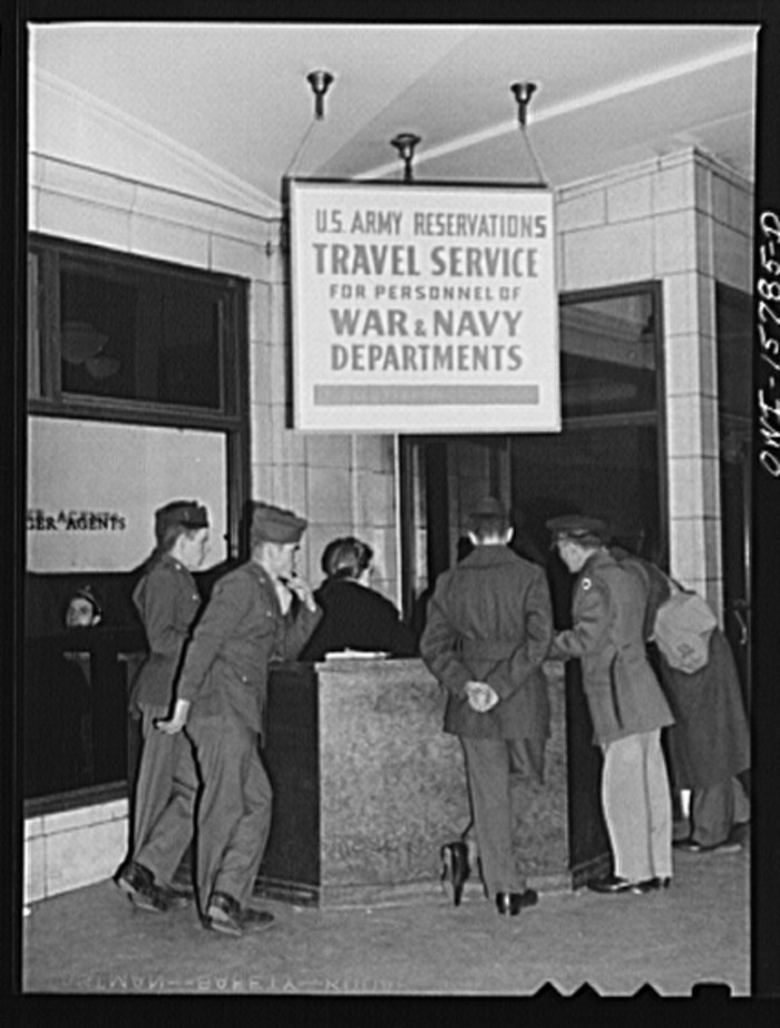 8. This was a booth to aid travelling army and navy personnel at the Union Station.