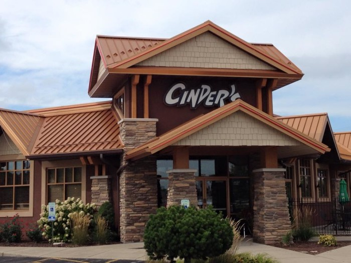 10. Cinder's Charcoal Grill