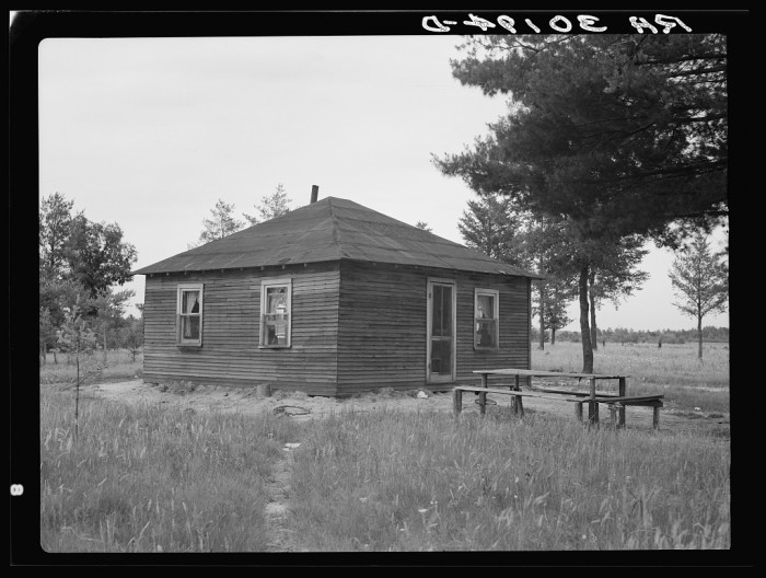 7. This was the home of John Mathews family near Black River Falls, Wisconsin in 1937.