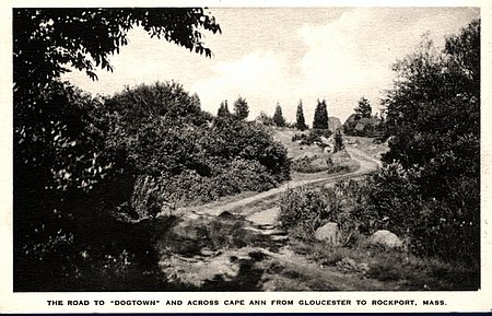 After the War of 1812, most farmers moved away from Dogtown. Fears of coastal attacks were dwindling and new roads were being opened between Rockport and Gloucester. This is when all the trouble started. As respectable families took off, their abandoned homes began filling with vagrants and unsavory people looking for a place to lie low.
