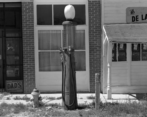 """12. """"Gasoline pump in Ramah, Colorado."""" (1937)"""
