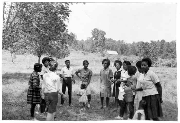 "1. In 1964, several hundred volunteers set out to eliminate racial boundaries in what would become known as the ""Freedom Summer."" This riveting photograph was taken in Mississippi during that historic summer."