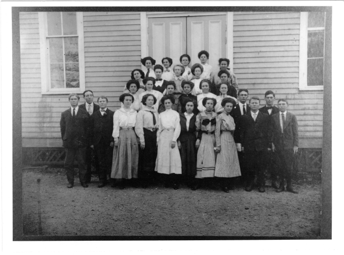 1. The 1909 graduating class of Gloster High School poses for a photo.