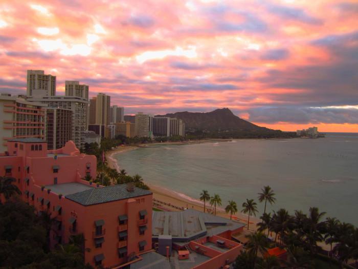 1) Waikiki Beach