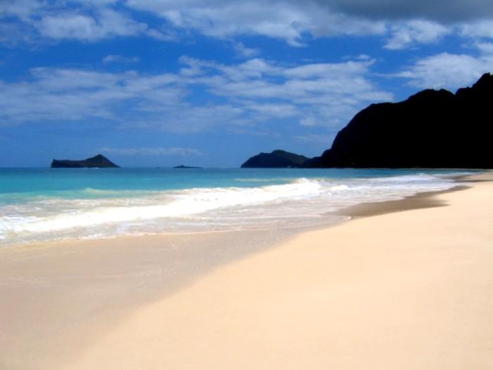 1) Waimanalo Beach, Oahu