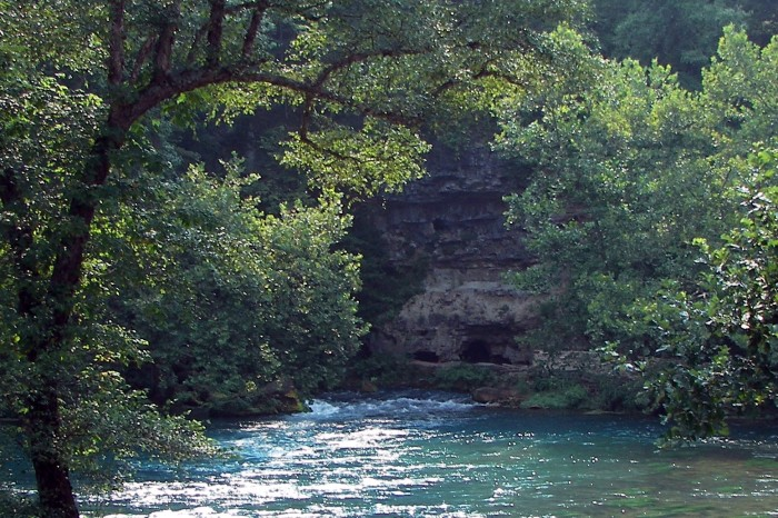 1.Amazing backdrop complete with caves at Big Spring.